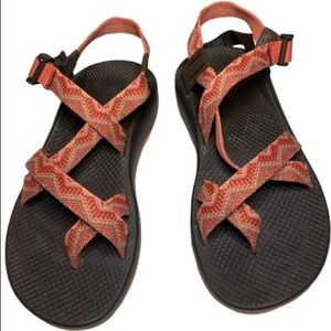 Chaco Z2 Classic Hiking Sandals Coral Orange 10